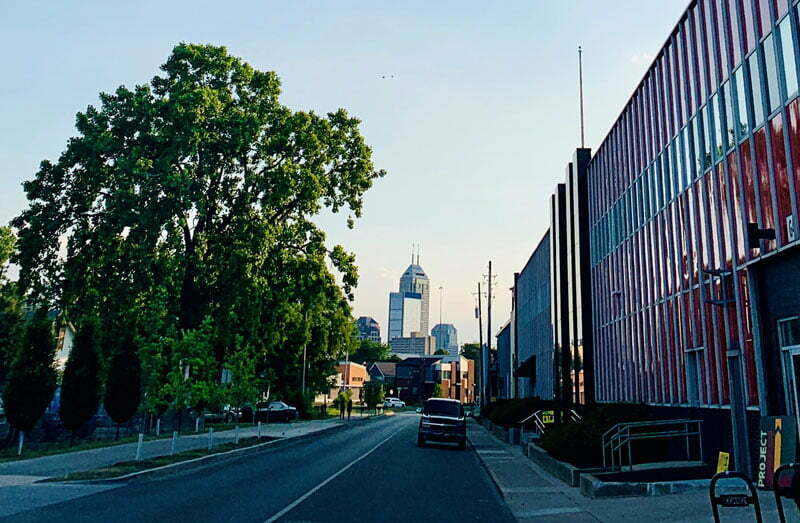 View of downtown Indianapolis from CCIC