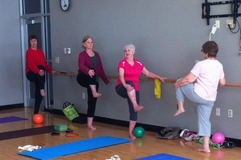 Older Women in a Fitness Class